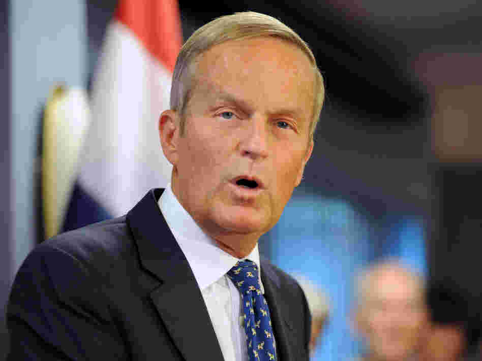 Rep. Todd Akin, R-Mo., confirms plans in Chesterfield, Mo., on Aug. 24 to stay in the U.S. Senate race.