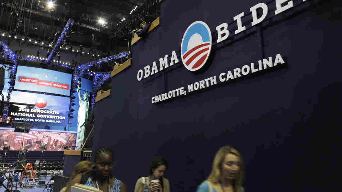 Preparations continue Monday for the Democratic National Convention in Charlotte, N.C.