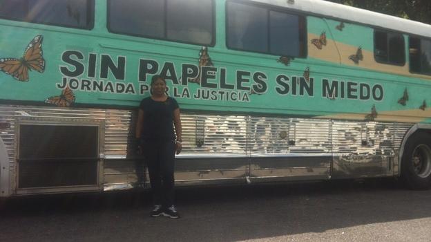 Maria Cruz Ramírez, 46, rode on the Undo-bus for six weeks. (NPR)
