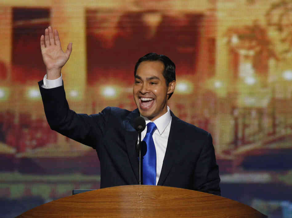 San Antonio Mayor Julian Castro delivers the keynote address at the Democratic National Convention in Charlotte, N.C., on Tuesday.