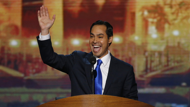 San Antonio Mayor Julian Castro delivers the keynote address at the Democratic National Convention in Charlotte, N.C., on Tuesday. (Reuters /Landov)