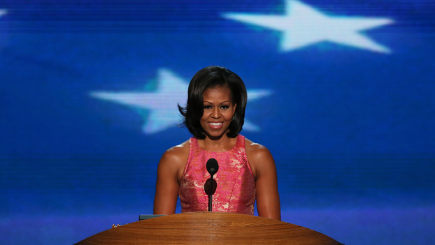 First lady Michelle Obama speaks at the Democratic National Convention in Charlotte, N.C., on Tuesday (Getty Images)