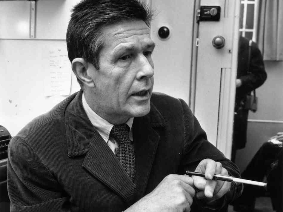 Composer, conceptual artist and professional provocateur John Cage, in a 1966 portrait.