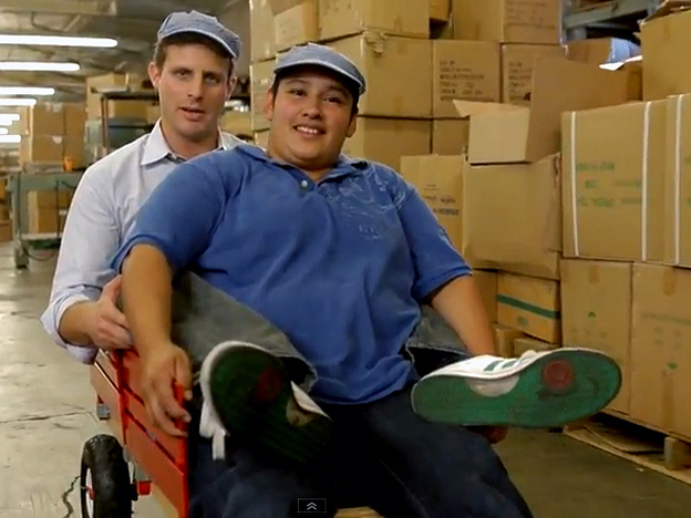 Customers of Dollar Shave Club say that the company's sense of humor — as seen in an absurdist video of CEO Michael Dubin in his warehouse — has helped win them over.