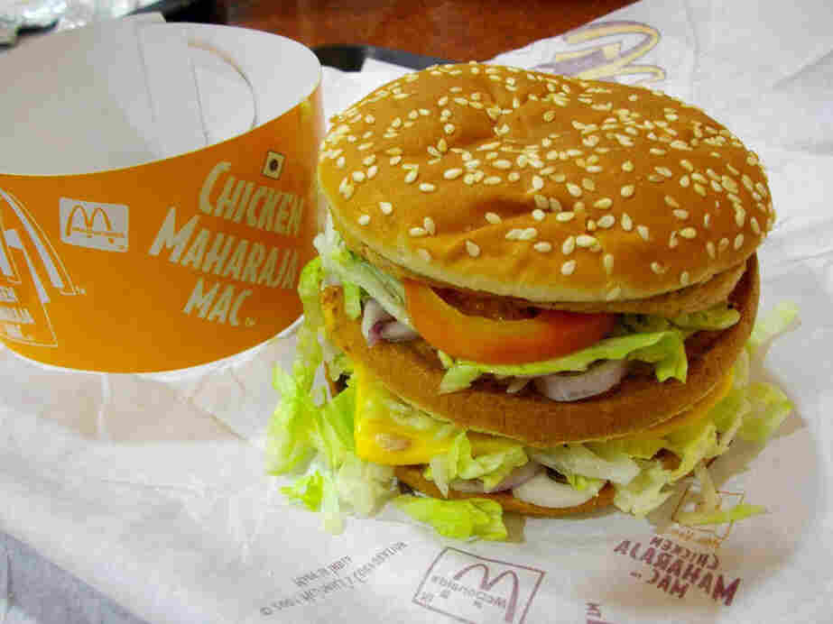 Even this Maharaja Mac, made specifically for the Indian market, will be off the menu at the new vegetarian McDonald's in India.