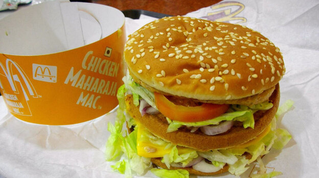 Even this Maharaja Mac, made specifically for the Indian market, will be off the menu at the new vegetarian McDonald's in India. (Flickr.com)