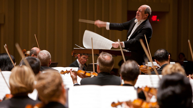 Robert Spano conducts members of the Atlanta Symphony Orchestra, who are currently in a lock out labor dispute. (Atlanta Symphony Orchestra)