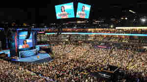 The scene Tuesday night at the Democratic National Convention in Charlotte, N.C.