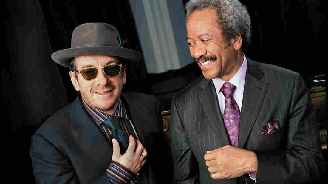 Elvis Costello (left) and Allen Toussaint.