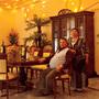 Doru and Valeria Constantin seldom use their glittery, marble-floored dining room.