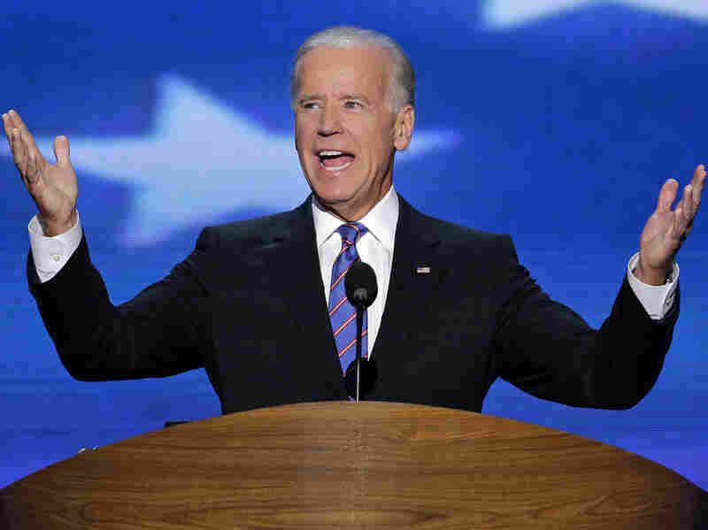 Vice President Joe Biden addresses the Democratic National Convention in Charlotte, N.C., on Thursday.
