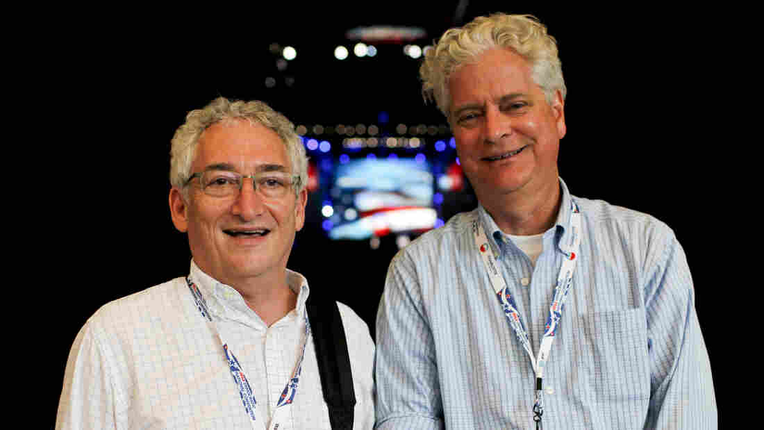 """Harry Rubenstein and William """"Larry"""" Bird Jr. spent the Democratic convention collecting memorabilia for the Smithsonian's National Museum of American History."""