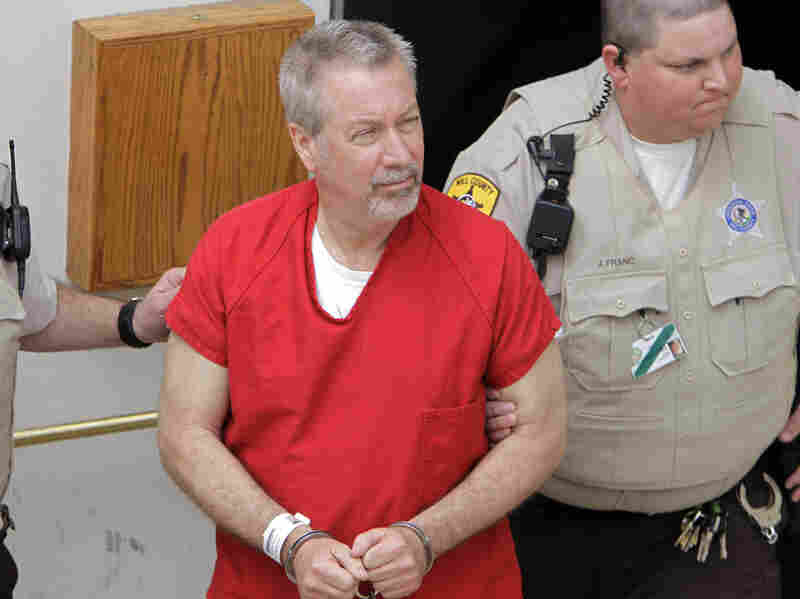 Former Bolingbrook, Ill., police Sgt. Drew Peterson, seen here May 8, 2009, was found guilty Thursday of killing his third wife.