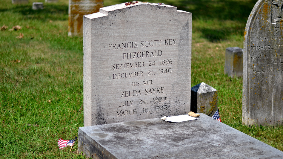 "Of Maryland, F. Scott Fitzgerald once wrote, ""I wouldn't mind a bit if Zelda and I could snuggle up under a stone in some old graveyard here."" (NPR)"