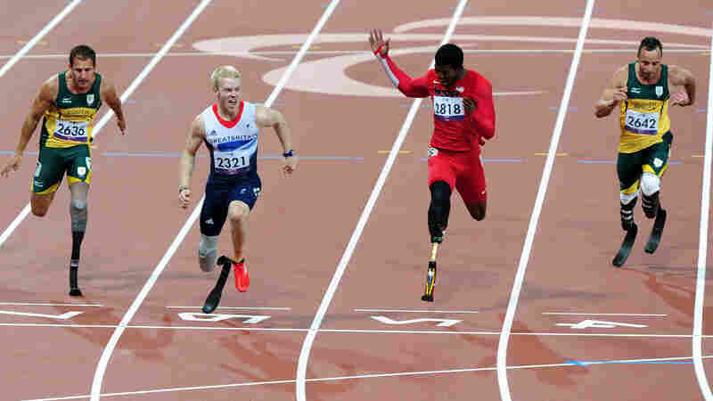 Pistorius Falls To Britain's Peacock In 100 Meters; American Browne Is Second