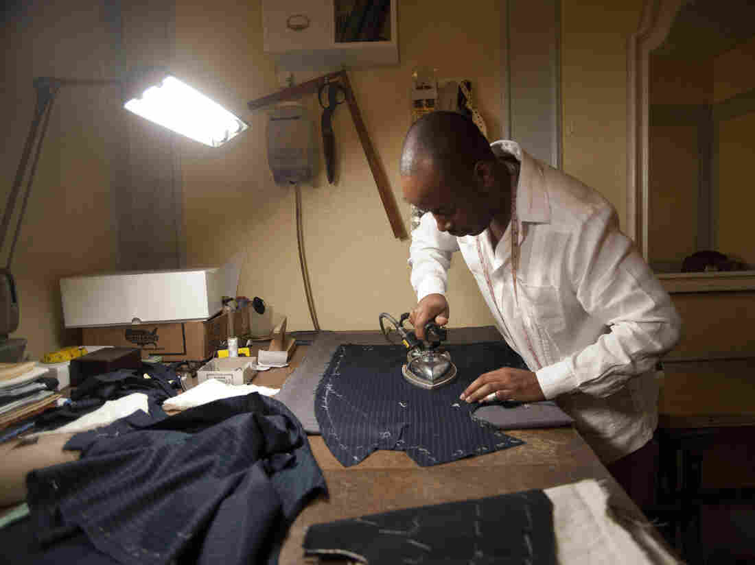 See photos of Peter Frew and other tailors in this slide show from The New York Times Magazine.