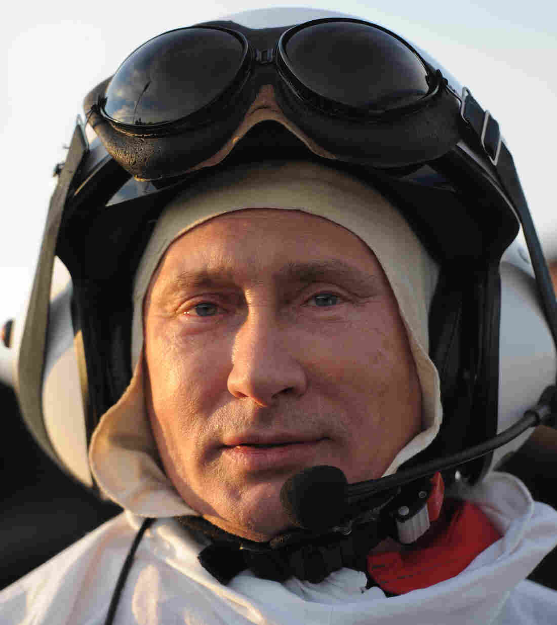 Russian President Vladimir Putin, dressed to ... lead wild cranes as they migrate.