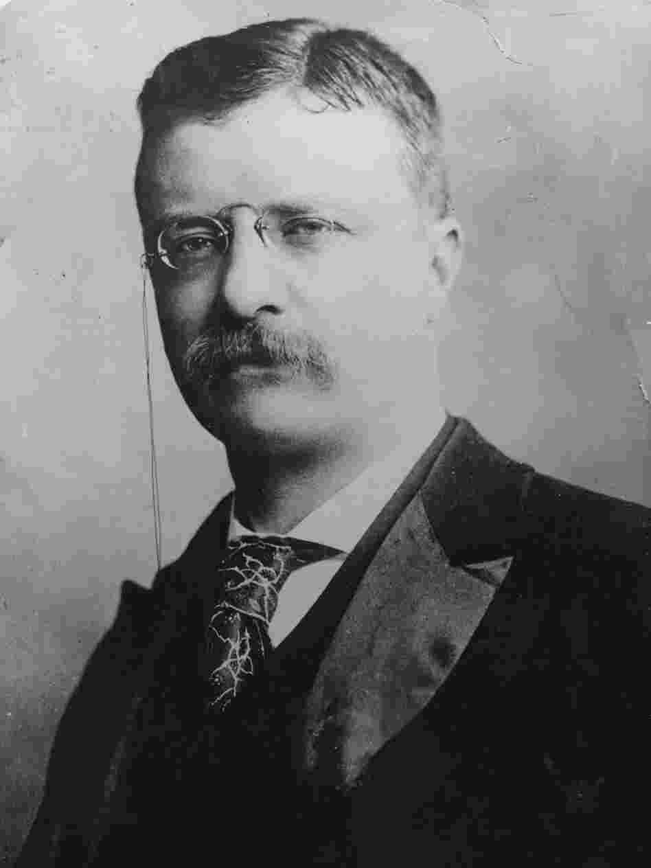 In this 1906 image, President Theodore Roosevelt (1858 - 1919) has noticeable swagger.