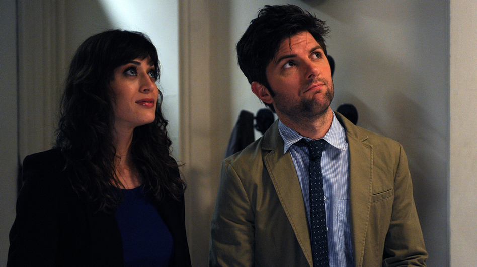 Gena is torn up about re-encountering her high-school love, Clyde (Adam Scott, Caplan's Party Down co-star). (Radius-TWC)