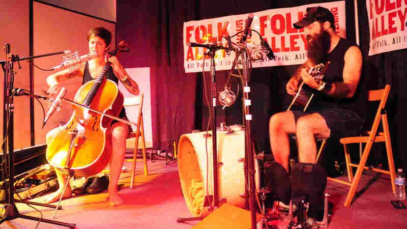Rhode Island folk duo Brown Bird perform a studio session for Folk Alley.