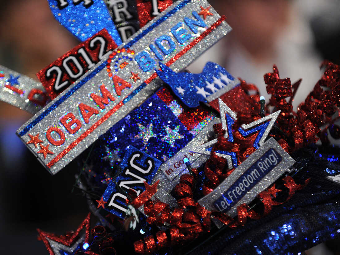 A delegate's hat at the Time Warner Cable Arena in Charlotte, N.C., on Sept. 4, the first day of the Democratic National Convention.