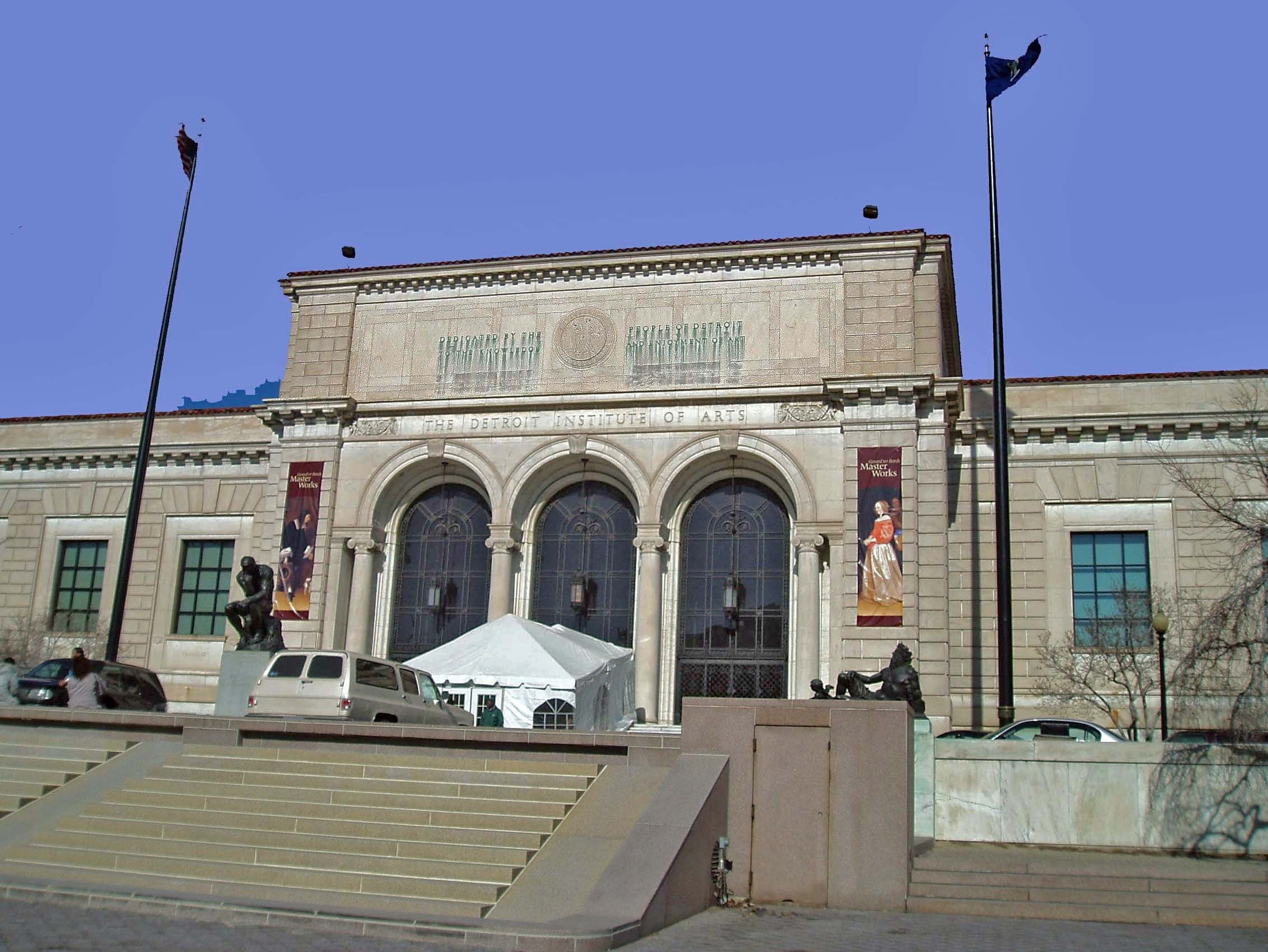 A majority of people living in Detroit's suburbs voted to have their taxes raised to support the Detroit Institute of Arts.