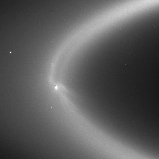 Enceladus making Saturn's E ring.