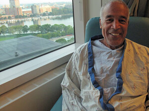 Henry Owens, a 69-year-old retired lawyer from Cape Cod, suffered a kidney stone attack last month. His doctor at Massachusetts General Hospital used a laser to break up the stone.