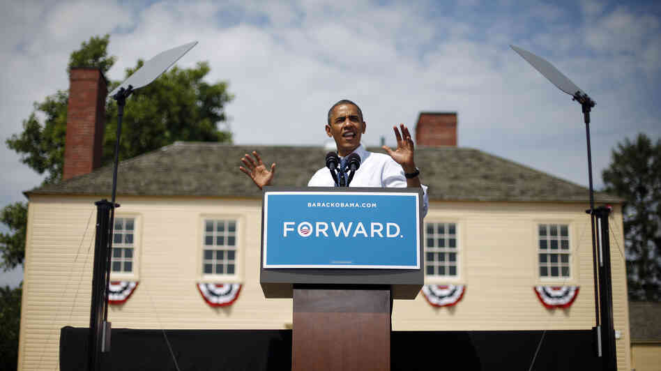 President Obama spoke at a campaign event at Strawbery Banke Museum in Portsmouth, N.H., on Friday.