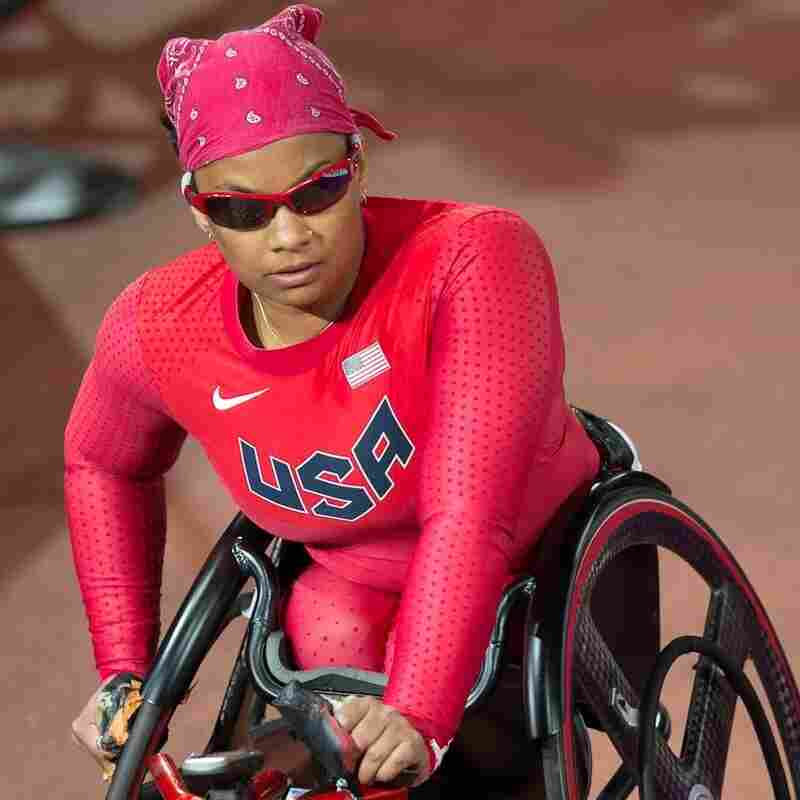 Forber-Pratt is competing in the 400-meter final at the Paralympics in London on Saturday.