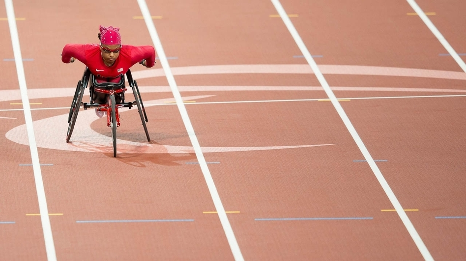 Paralympic wheelchair sprinter Anjali Forber-Pratt says she was inspired as a child by the wheelchair racers whizzing by during the Boston Marathon. (U.S. Paralympics)