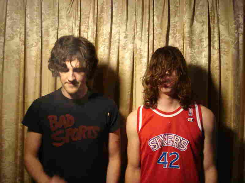 """The members of the band Bass Drum of Death, drummer Colin Sneed (left) and singer-guitarist John Barrett, live in their hometown of Oxford, Miss. --€"""" a city of around 19,000 people."""