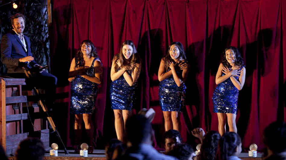 Chris O'Dowd, Deborah Mailman, Shari Sebbins, Jessica Mauboy, and Miranda Tapsell in The Sapphires.