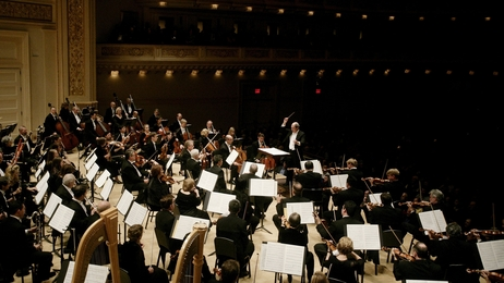 The Atlanta Symphony performs at New York City's Carnegie Hall in 2011.