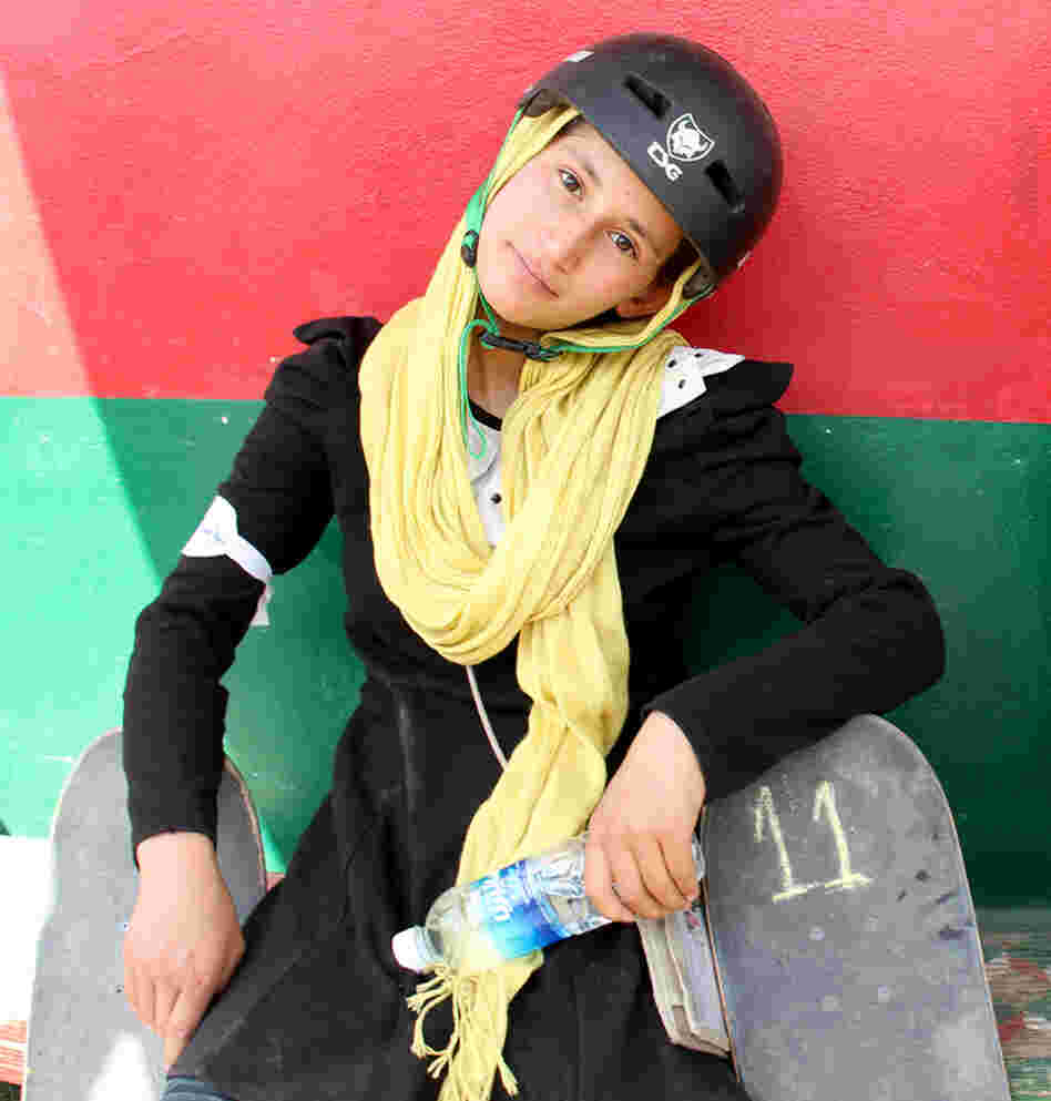 Khorshid during a Kabul skating event in 2012.