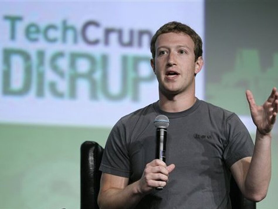 Facebook CEO Mark Zuckerberg emphasized his company's mobile-centered future Tuesday, in his first public comments since Facebook's troubled IPO. (Eric Risberg/AP)