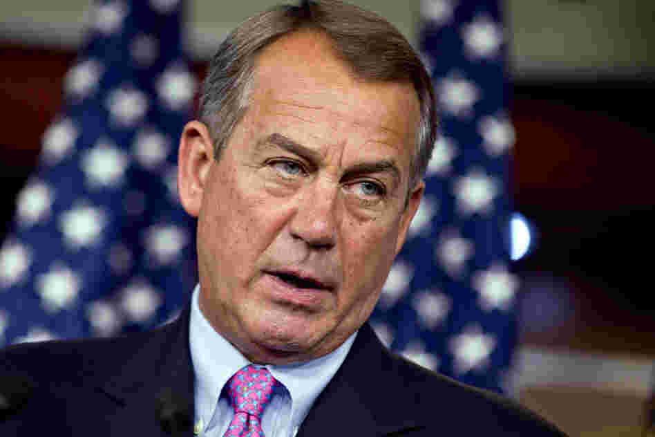 "Speaker of the House John Boehner says he has little of hope of reaching a resolution on the so-called ""fiscal cliff."""