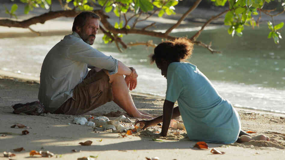 Hugh Laurie and Xzannjah in Mr. Pip.