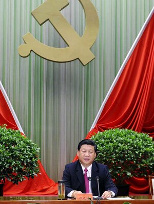 Chinese Vice President Xi Jinping addresses the opening ceremony