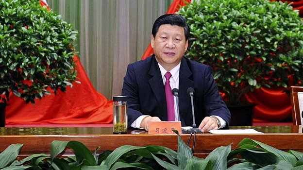 Chinese Vice President Xi Jinping addresses the opening ceremony of the autumn semester of the Party School of the Communist Party of China in Beijing on Sept. 1. (AP)
