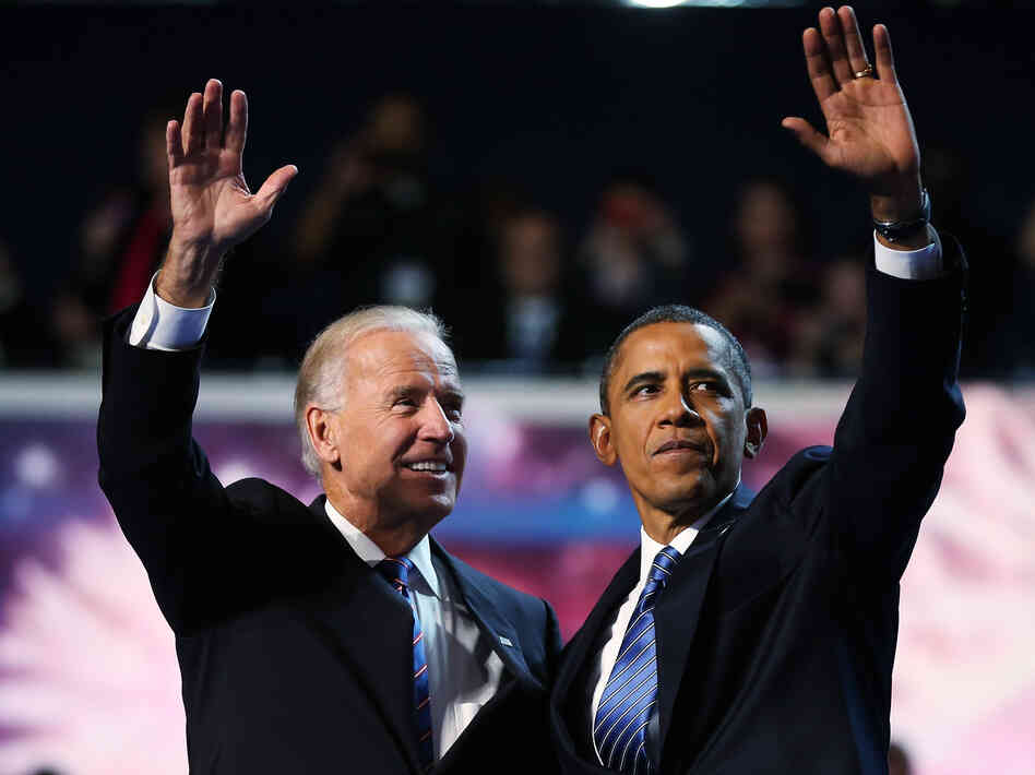 "President Barack Obama and Vice President Joe Biden accepted renomination at the DNC in Charlotte. It is considered an insult to call their party the ""Democrat Party."""