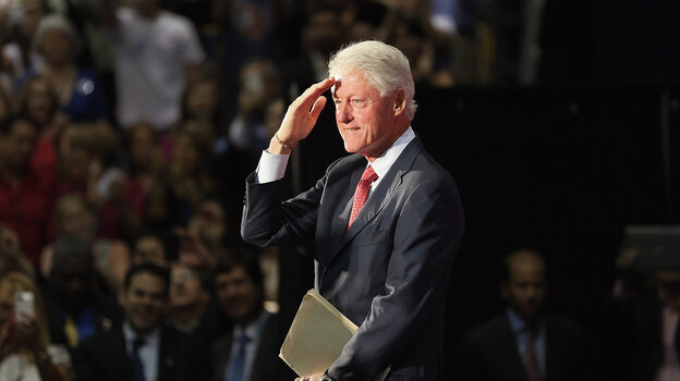 Former President Bill Clinton speaks Tuesda
