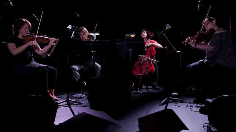 Members of ACME (violinists Caroline Shaw and Ben Russell, violist Nadia Sirota and cellist Clarice Jensen) dug into Steve Reich's Different Trains to open their performance, recorded live o