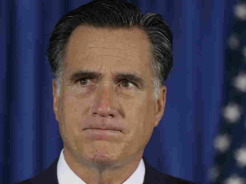 Republican presidential nominee Mitt Romney speaks in Jacksonville, Fla., on Wednesday, where he addressed the killing of four  Americans in Libya.