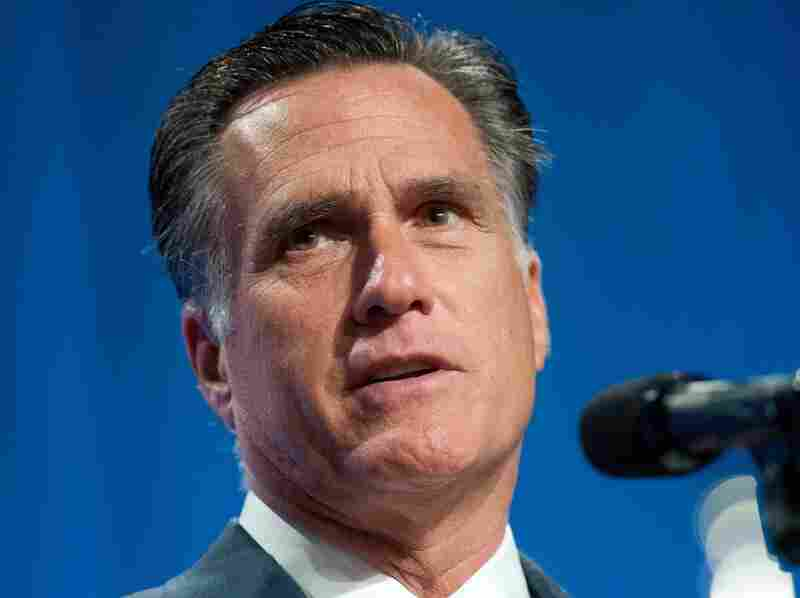 Republican presidential candidate, former Massachusetts Gov. Mitt Romney addresses the crowd at the 134th National Guard Association Convention on September 11, 2012 in Reno, Nevada.