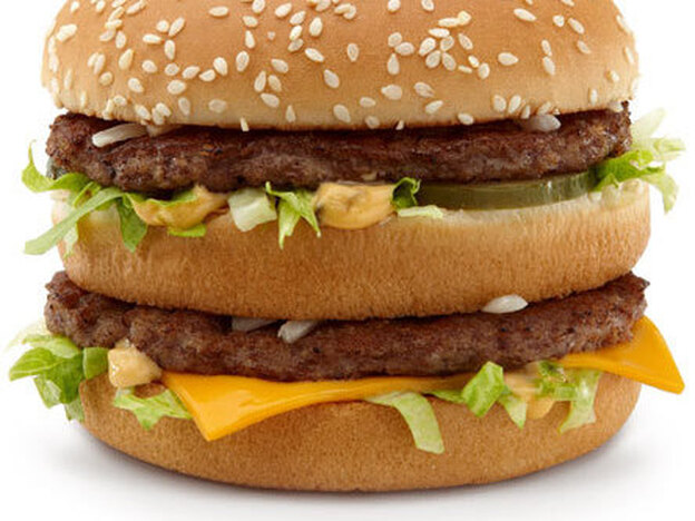 The iconic Big Mac is still 550 calories. (courtesy McDonald's)