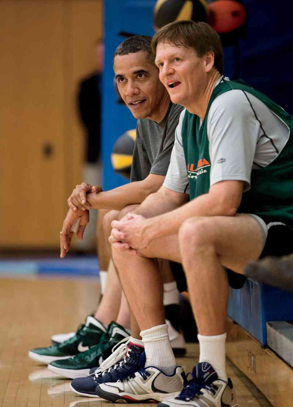 Contributing editor Michael Lewis played basketball with President Obama while working on a piece for Va