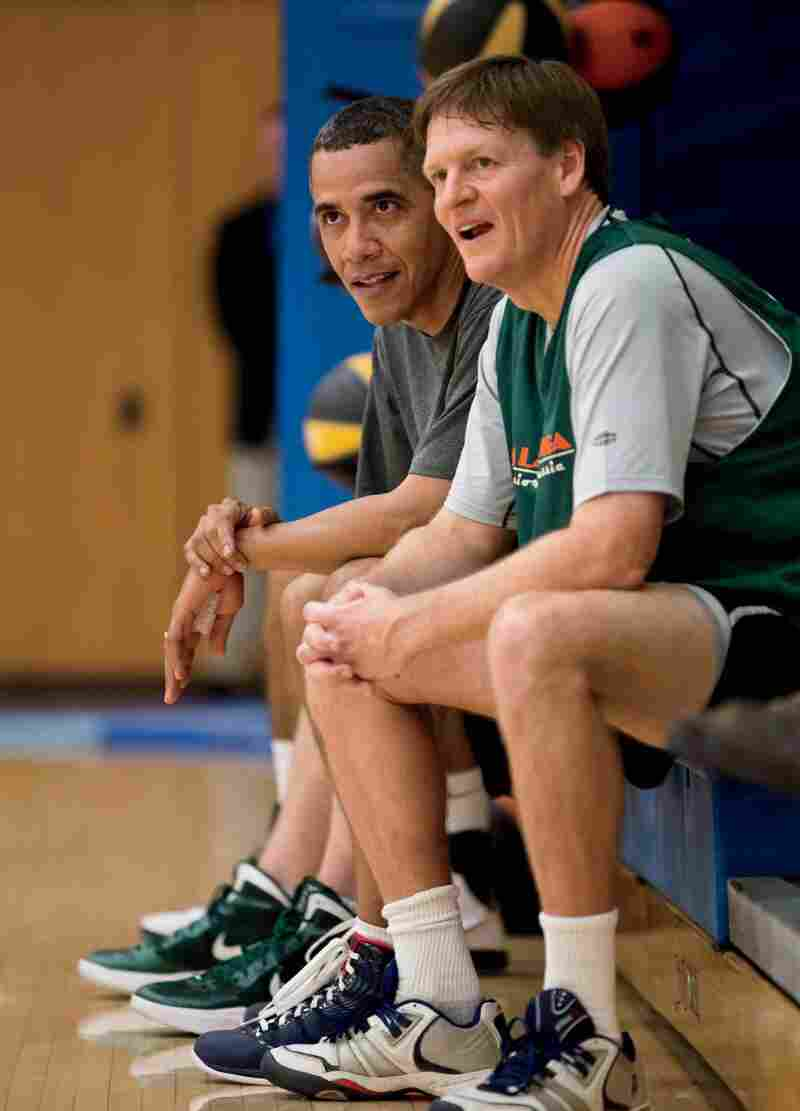 Contributing editor Michael Lewis played basketball with President Obama while working on a piece for Vanity Fair.