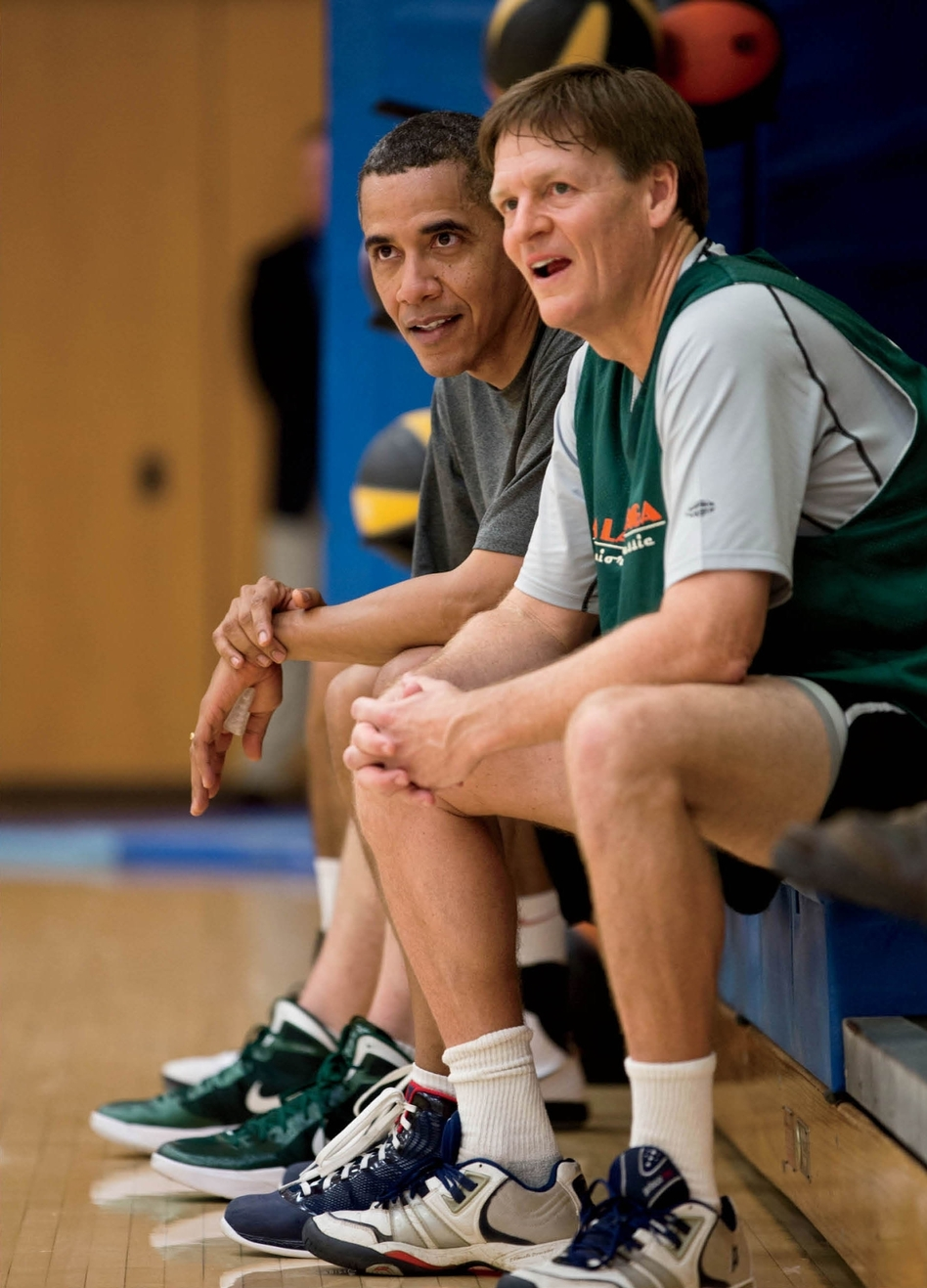 Contributing editor Michael Lewis played basketball with President Obama while working on a piece for <em>Vanity Fair.</em>