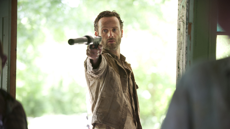 Rick Grimes (Andrew Lincoln) returns in October to fight more zombies in the hit AMC series <em>The Walking Dead</em>. But about 14 million people won't be able to see the premiere because of an ongoing dispute between AMC and satellite provider DISH Network